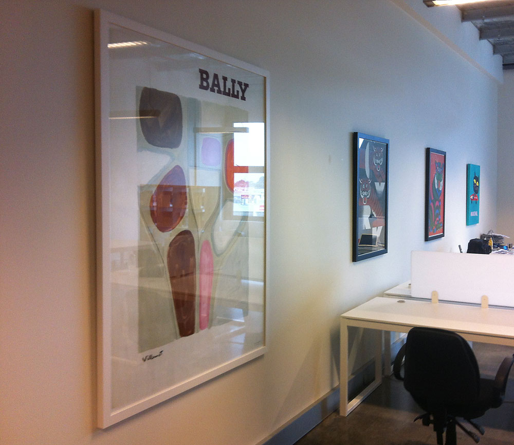 Hanging artworks in offices